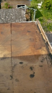 Water damaged roofing boards